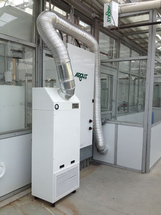 Bio-containment Hepa filter system