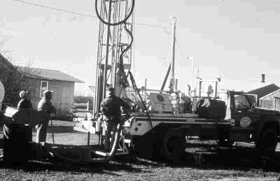 Figure 7. Test drilling to locate groundwater aquifers