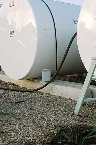 Figure 17: Double walled tanks using concrete supports on firm, compacted gravel